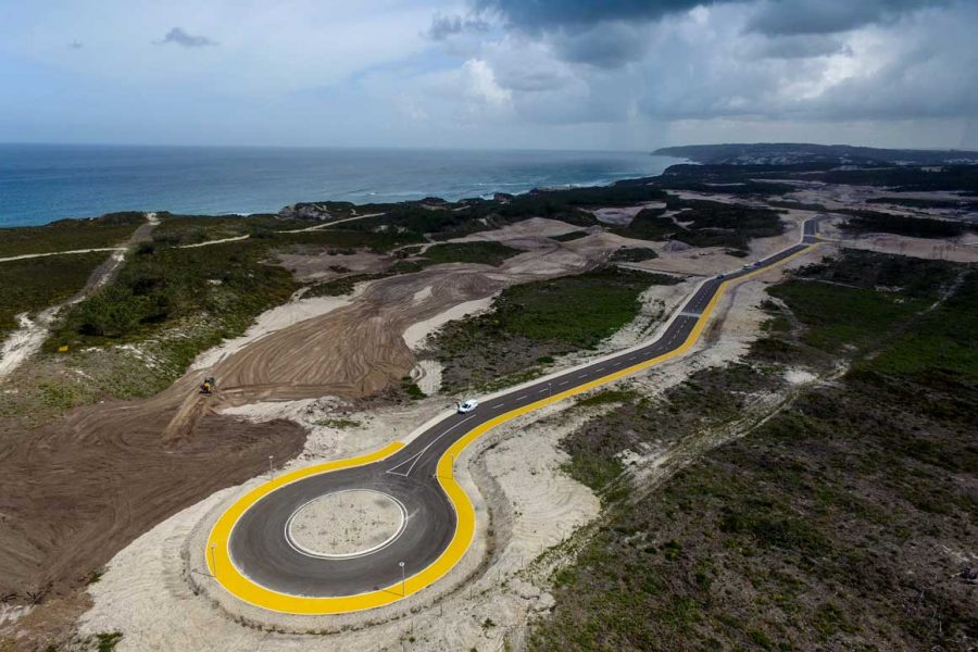 Road Construction in Praia del Rey, Portugal