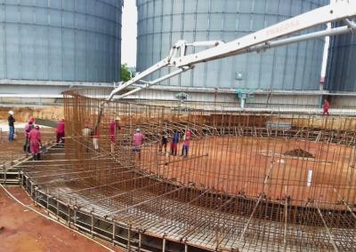 Fornecimento de betão para bases de cilos de cereais, Bakresa Grain Milling, Nacala