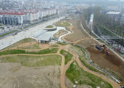 Construção de parque urbano da Almoinha, CM Leiria