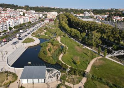 Parque urbano Almuínha Grande em Leiria